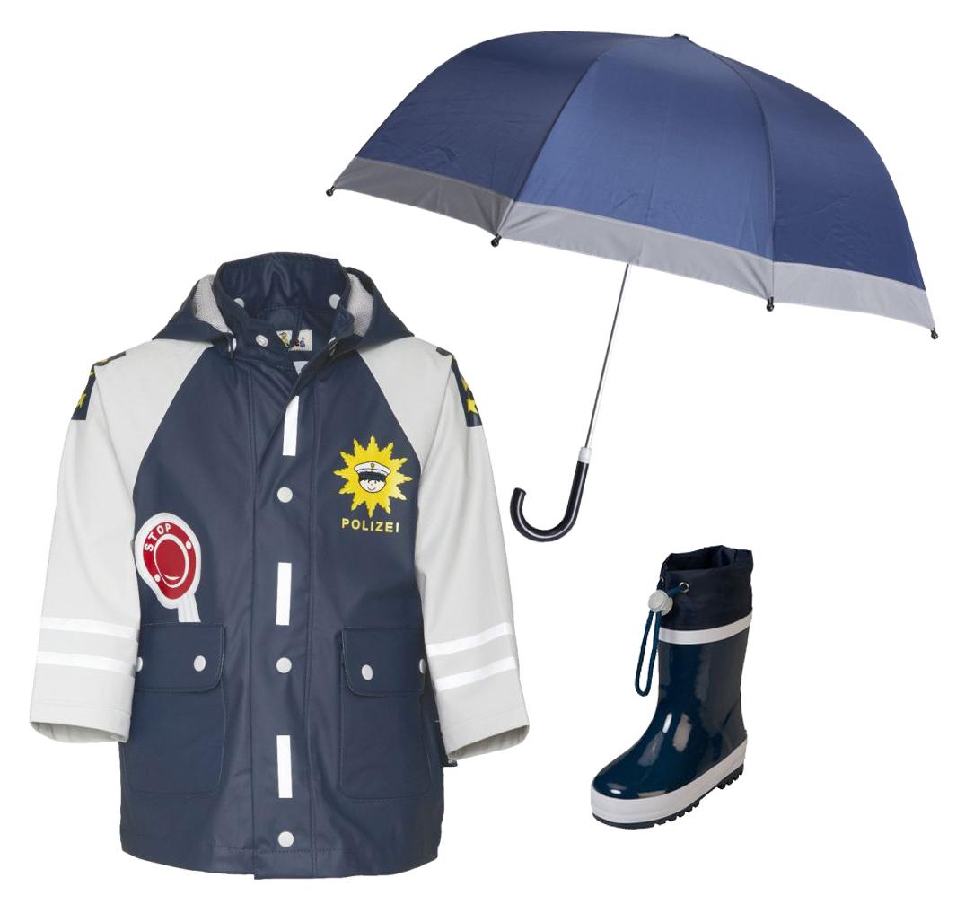 0f900f4b270 Детски дъждобран Полицай, детски чадър за дъжд и гумени ботушки