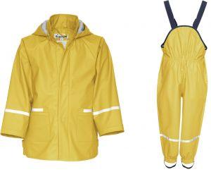 Детски жълт дъждобран в сет Yellow 2
