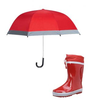 Детски гумени ботуши и чадър за дъжд
