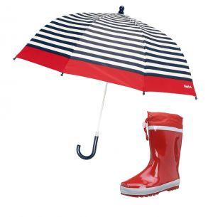Детски гумени ботуши Red и детски чадър за дъжд