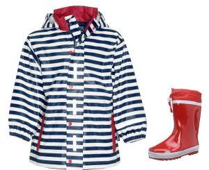 Детски дъждобран Райе и детски гумени ботуши Red