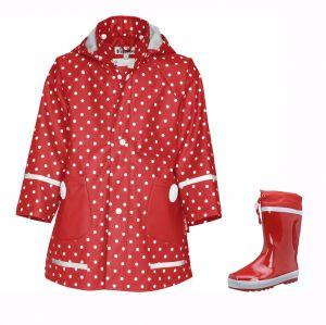 Детски гумени ботуши Red и дъждобран