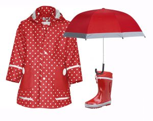 Детски гумени ботуши за дъжд Red в сет