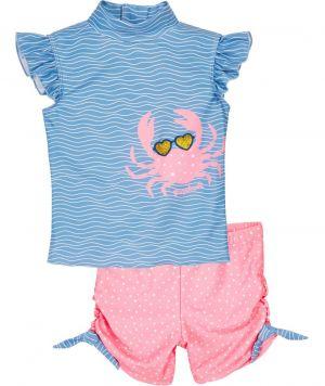 Детски бански за момиченце Crab
