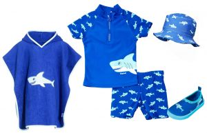 Детски бански момче Акула 16