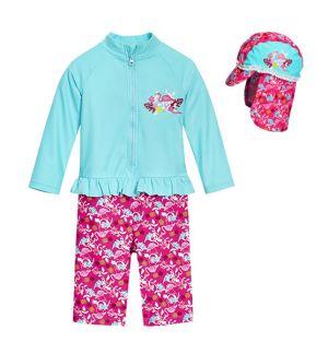 Бански за момиченце Фламинго 12