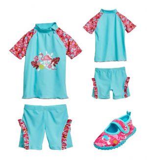 Бански за момиченце в сет Фламинго 9