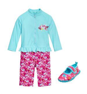 Бански за момичета в сет Фламинго 11
