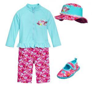 Бански за момиченце в сет Фламинго 13