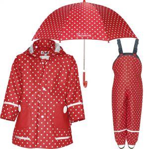 Детски дъждобран, гащеризон и чадър Dots