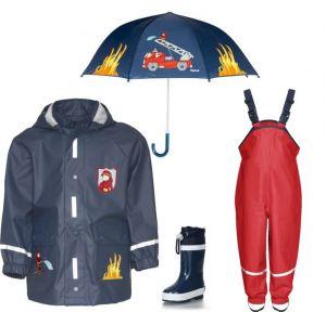 Детски дъждобран Пожарна в сет 3