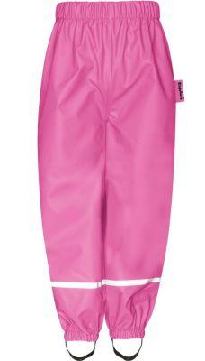 Детски панталон за дъжд Pink с полар