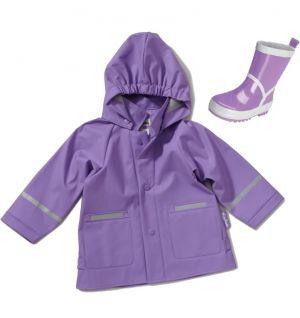 Дъждобран и гумени ботушки за дете - Лила