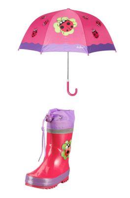 Детски гумени ботуши и чадър за момиче-Калинка
