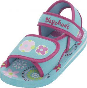 Детски сандали сини Цветя