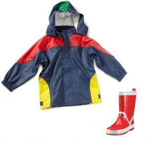 Детски дъждобран и гумени ботушки