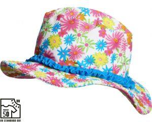 Детска лятна шапка Цветя