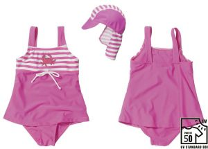 Детски бански и шапка с UV защита