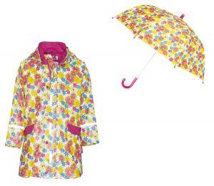 Детски дъждобран и чадър Цветя