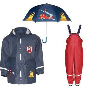 Детски дъждобран Пожарна в сет 2