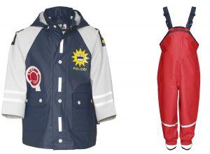 Детски дъждобран Полицай в сет 4