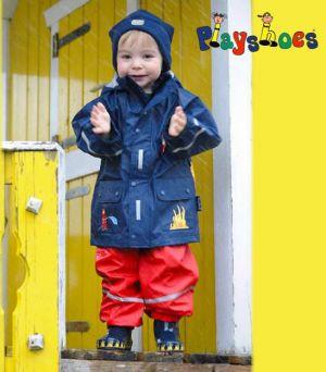 Детски дъждобран Пожарна в сет 5