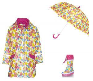 Детски дъждобран Цветя в сет 1