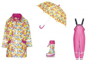 Детски дъждобран Цветя в сет 4
