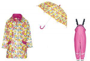 Детски дъждобран Цветя в сет 5