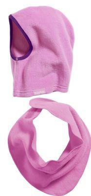 Детски шал и шапка Розово 4