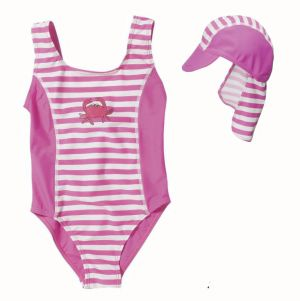 Детски бански и шапка Раче 24 с UV защита