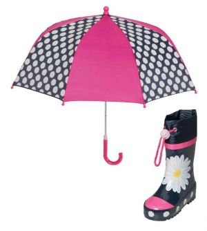 Детски гумени ботуши и чадър Маргаритки
