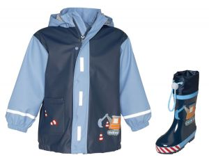 Детски дъждобран и гумени ботушки Стройко