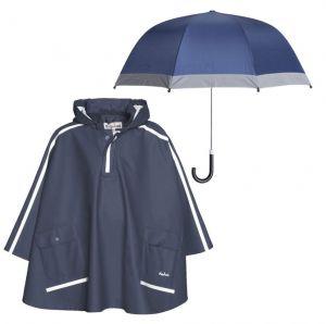 Детски дъждобран Пончо и чадър Blue