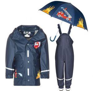 Детски дъждобран Пожарна в сет 2.1