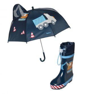Детски гумени ботуши и чадър Стройко