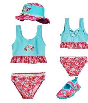 Детски бански момиче Фламинго 3