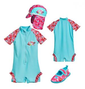 Детски бански момиче Фламинго 6