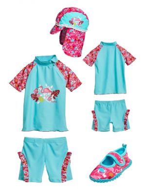 Бански за момиченце Фламинго 7
