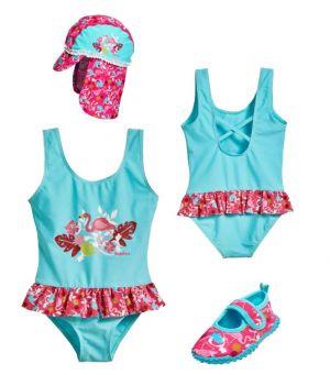 Детски бански момиче Фламинго 8