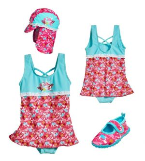 Детски бански момиче Фламинго 10