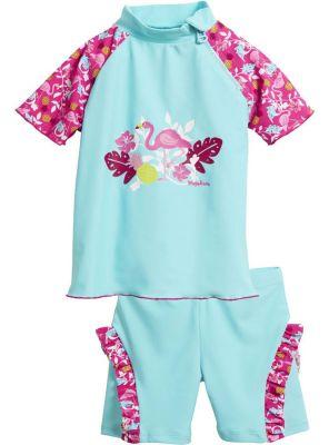 Бански за момиченце Фламинго 1