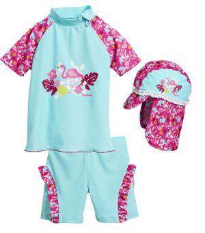 Бански за момиченце Фламинго 4