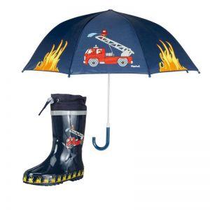 Детски гумени ботуши и чадър Пожарна