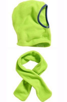 Детски шалове и шапка Green