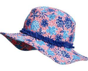 Детска шапка за плаж Сини цветя