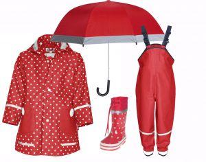 Детски дъждобран в сет Red 4