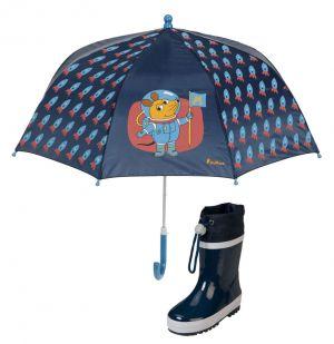 Детски чадър Rockets и гумени ботушки