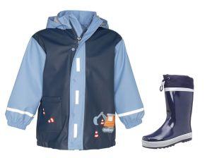 Детски дъждобран Стройко и гумени ботушки