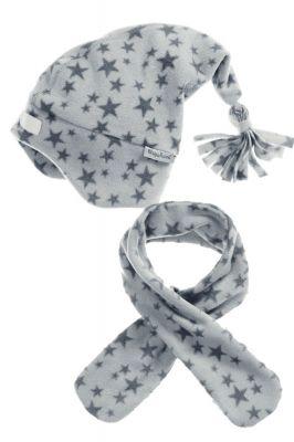 Детски шал и шапка Grey Stars 2